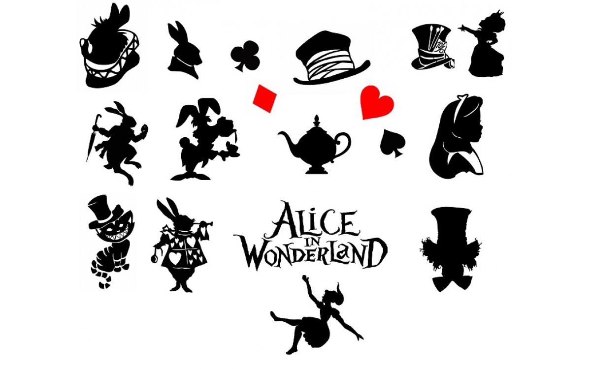Алиса в стране чудес (svg клип-арт)