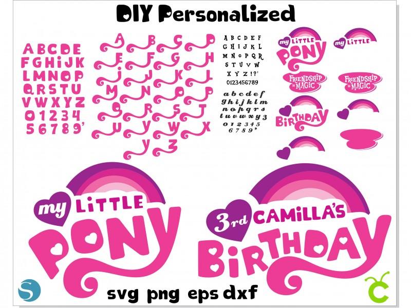My Little Pony Logo DIY Person..
